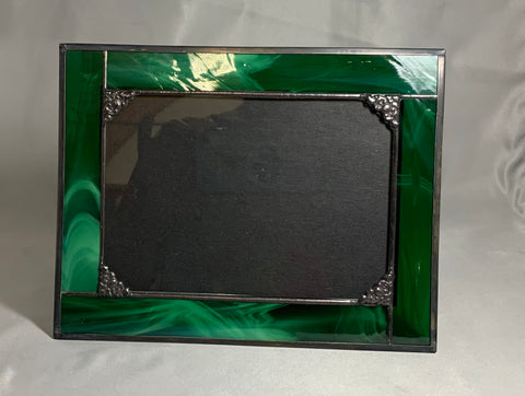 5x7  stained glass picture frame / made to order