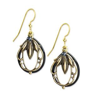Silver Forest Earrings: Mixed Metal Collection