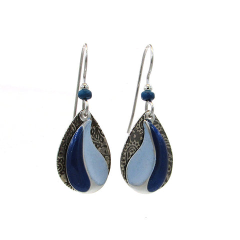 Silver Forest Earrings: Purples & Blues Collection