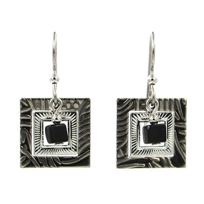 Silver Forest Earrings: Black & Silver Collection