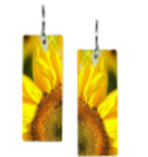 Long Triangle Red Coral Earrings