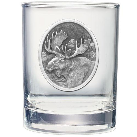 Moose Double Old Fashioned Glass