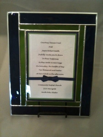 Custom Wedding Invitations in Stained Glass
