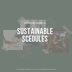 Sustainable Schedules Webinar Course