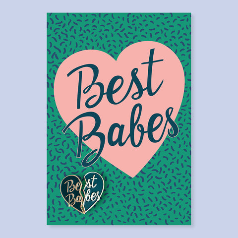 Best Babes Pin + Post Card