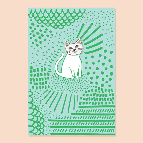 Kitcat Pin + Post Card