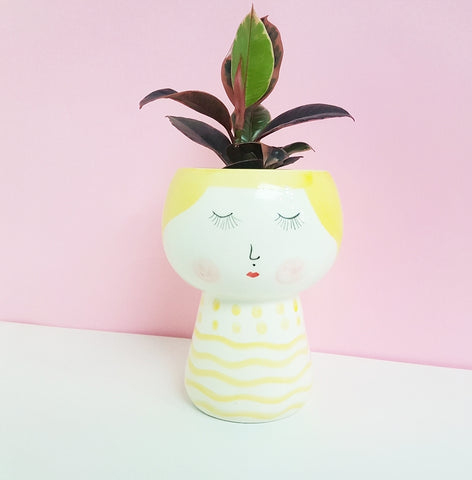 Violet Face Planter - Yellow