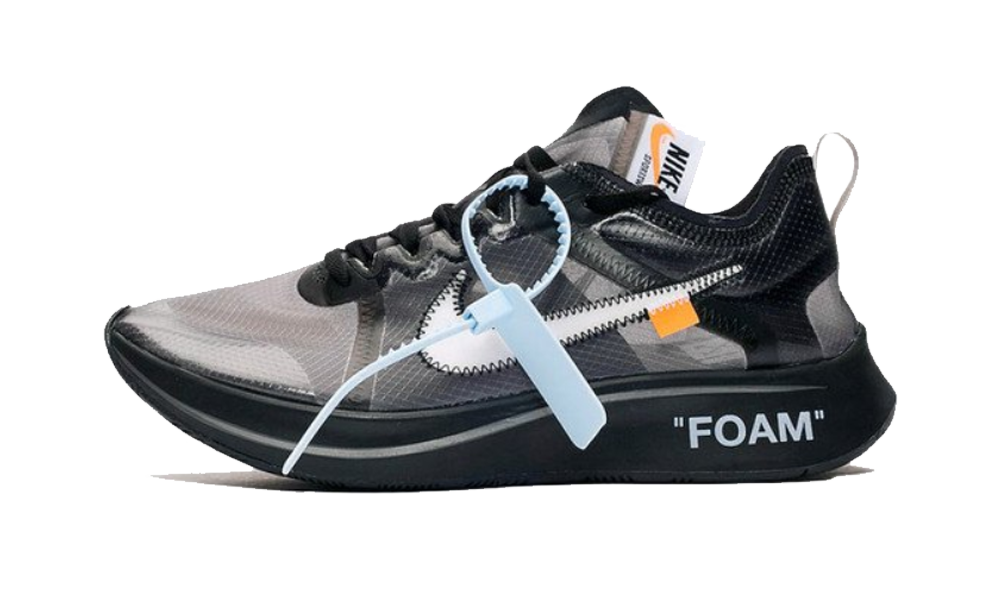 Nike Zoom Fly Off White - Black Silver