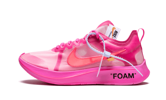 Zoom Fly Off White - Tulip Pink
