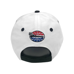 The Strip 4 Wide Flames Hat White