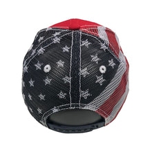 Patriotic American Flag Hat Red