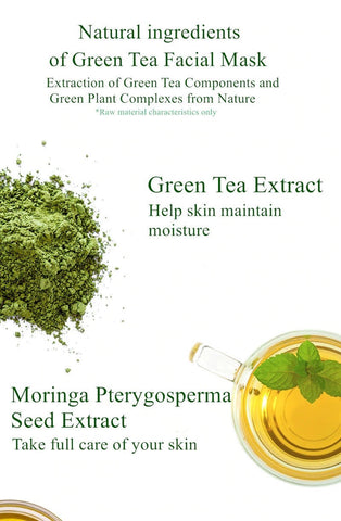 Green tea contains a powerful antioxidant called EGCG that fights DNA damage from UV rays to prevent skin cancer. ... It's an intensely hydrating face mask that absorbs into your skin for reduced redness and soothed skin. Green tea is powerful antibacterial agent for treating acne and uncloging pores