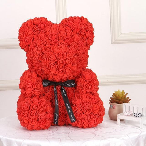 The perfect anniversary This Handmade Rose Bear is the hottest and most viral gift of 2020.  Impress your loved ones, girlfriends, significant others, with the most beautiful Handmade Rose Bear.  More than 100 Roses are individually crafted and shaped to create each Rose Bear.Christmas gift that will look great as a decoration piece in your loved one's home or office