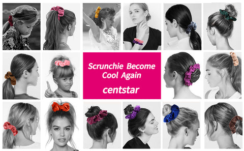 12 Pcs Premium Korean Velvet Hair Scrunchies Hair Bands Scrunchy Hair Ties Ropes Scrunchie for Women or Girls Hair Accessories with collection bags (12 PCS Korean Velvet Scrunchies)