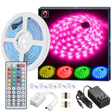 Load image into Gallery viewer, ED Strip Lights, 16.4ft RGB LED Light Strip 5050 LED Tape Lights, Color Changing LED Strip Lights with Remote for Home Lighting Kitchen Bed Flexible Strip Lights for Bar Home Decoration
