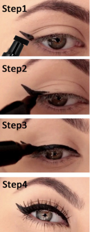Instant Winged Eyeliner Stamp