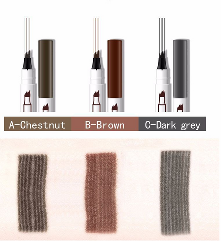 WATERPROOF & EASY TO WIPE -The liquid of  eyebrow pencil is waterproof and easy to rub off. Do not rub your eyebrows too hard. LONG LASTING - Our long-lasting formula delivers up to 24 hour wear that is smudge-proof.