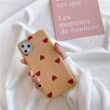 Load image into Gallery viewer, Textured Fabric Hearts iPhone Case