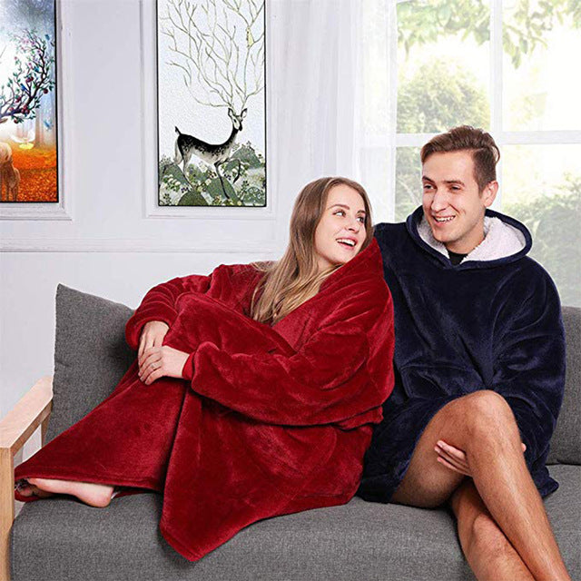 Cozy Reversible Sweatshirt Blanket