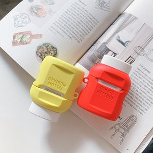 Ketchup and Mustard Airpods Case
