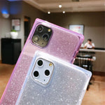 Shockproof Square Glitter Iphone Case