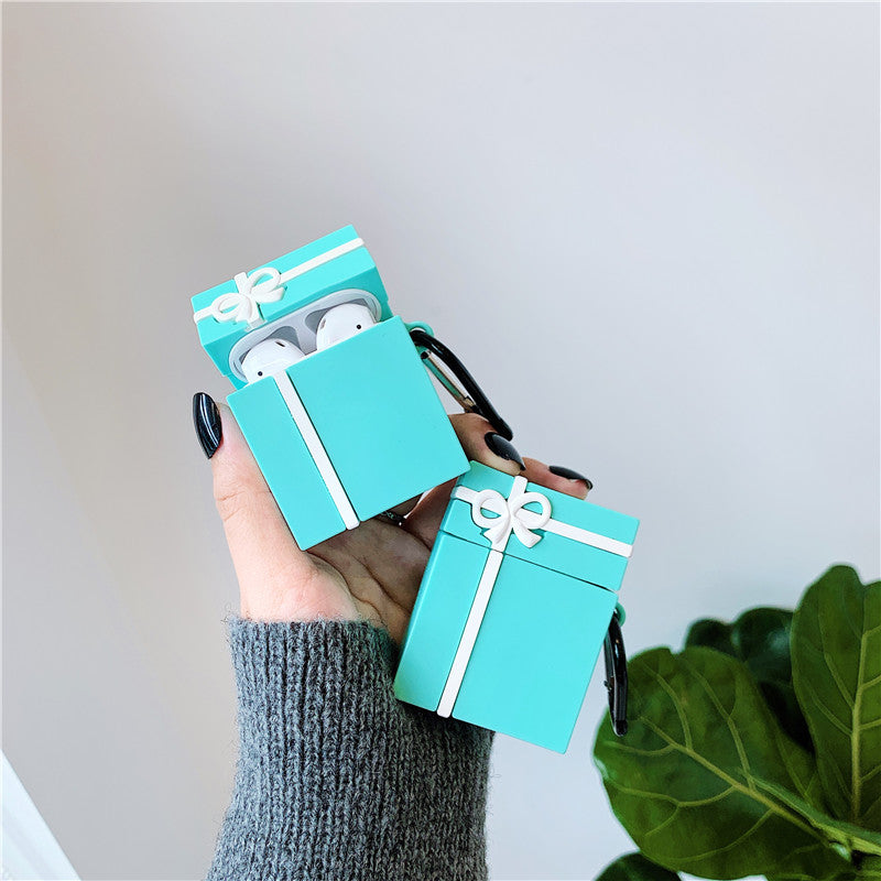 Blue Gift Box Airpods Case