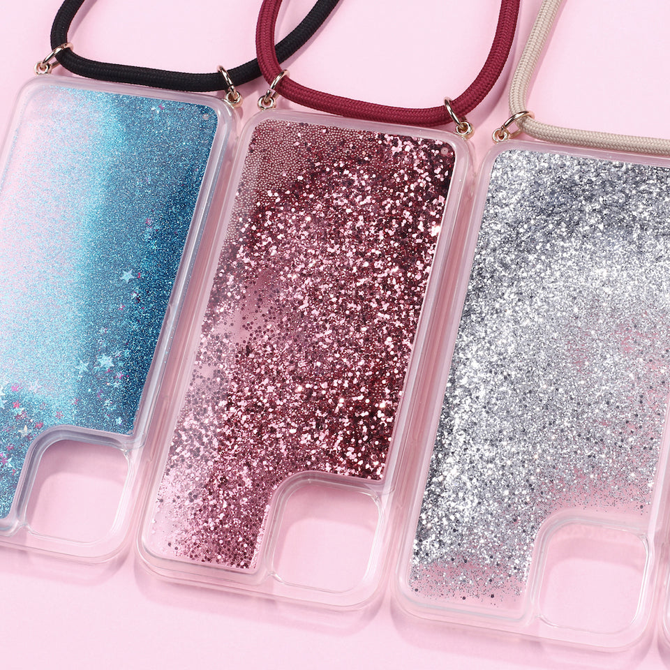 Satisfying Glitter Strap It Iphone Case