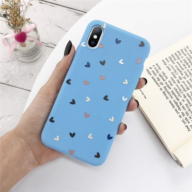 Pretty Hearts PolkaDot Blue Case