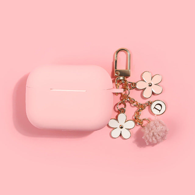 Pink Daisy Airpods Case