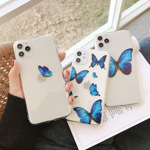 Transparent Butterfly Iphone Case