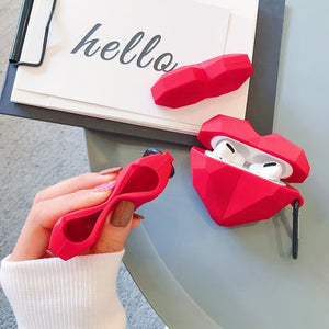 3D Hearts Silicone Airpods Case
