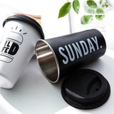 Reusable Stainless Steel Mug with Lid