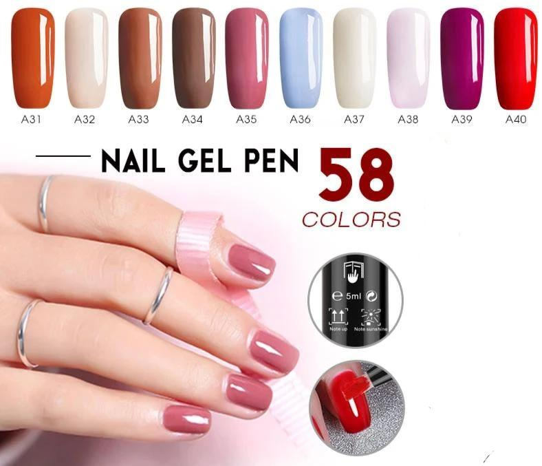 ONE-STEP EASY GEL NAIL POLISH PEN - Viral Beauty Shop