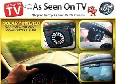 Auto Cool Solar Powered Fan - Keeps Your Parked Car Cooler