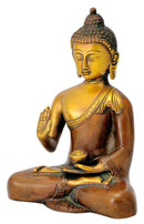 Serene Blessing Buddha Sculpture