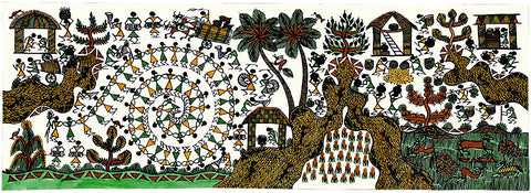 Dance of Warli People - Warli Painting
