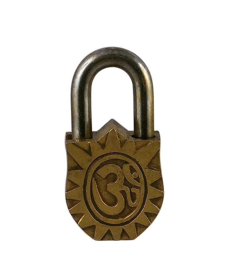 Goddess Durga Ride on Lion - Brass Decorative Lock