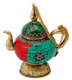 Decorative Kettle with Colored Mosaic Work