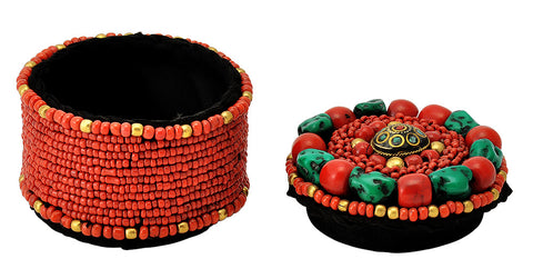 Colorful Handmade Small Beaded Box