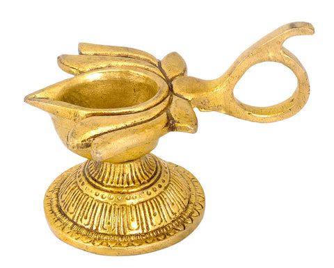 Lotus Shaped Brass Deepam