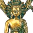 Buddha Under Bodhi Tree - Brass Statue