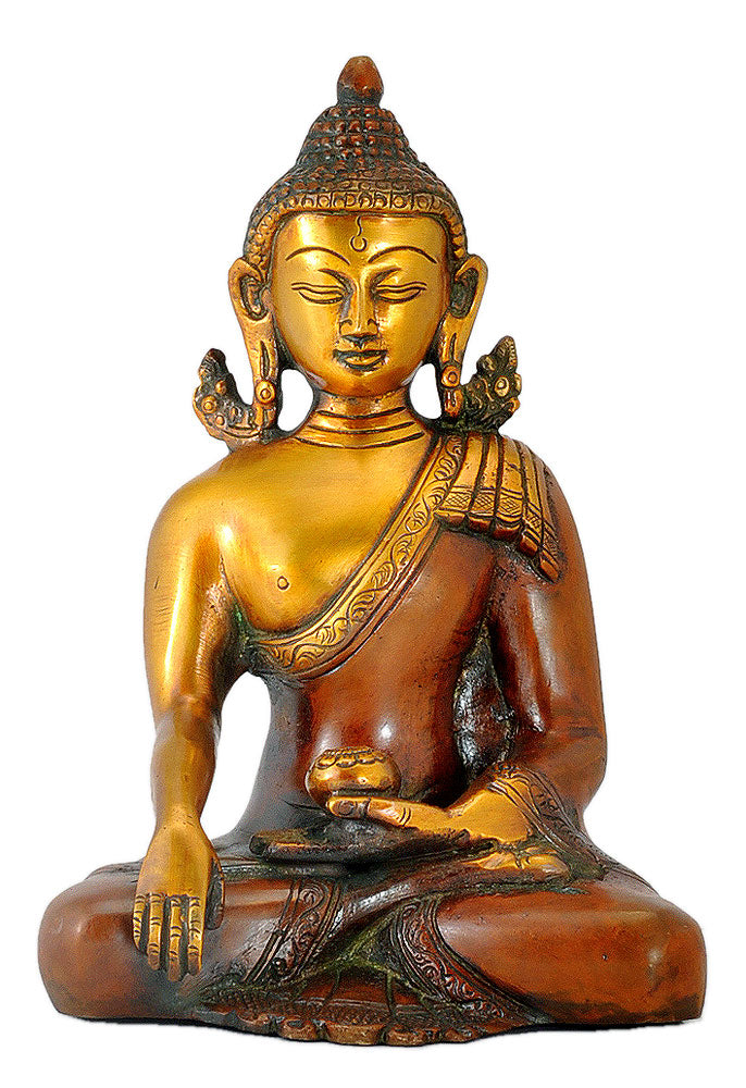 Brass Buddha Copper Golden Finish