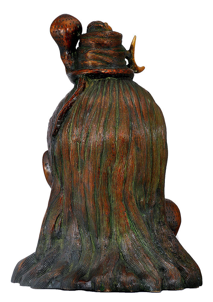 Lord Gangadhara Shiva Head Brass Sculpture