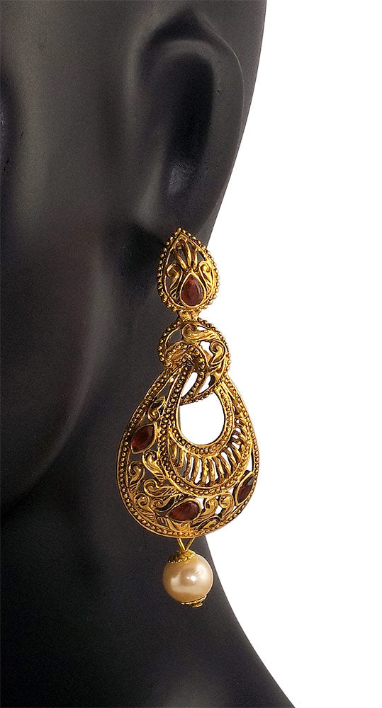 Gold Plated Fancy Party Wear Fashion Earrings