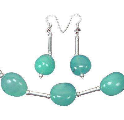 Aquamarine Happiness - Necklace Earrings Set