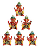 Musician Ganeshas - set of 6 statues