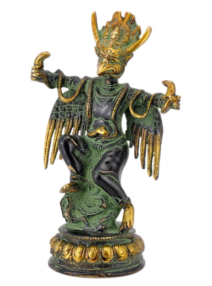 Unique Garuda Statue in Antique Black Finish