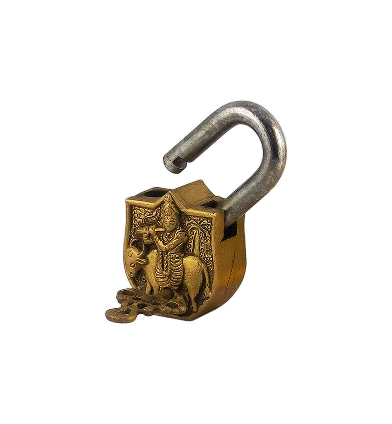Gau Gopal Krishna - Brass Decorative Lock
