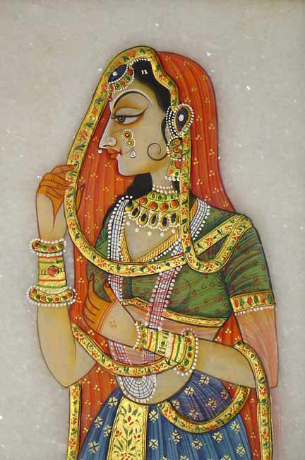 Bani Thani-Marble Painting