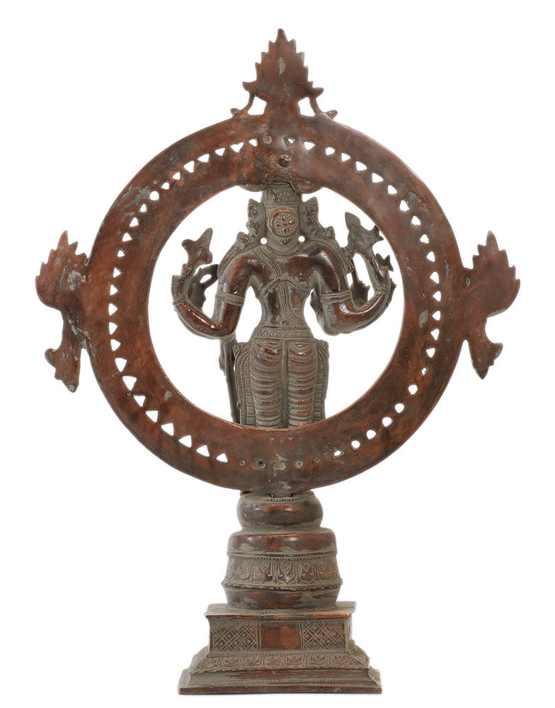 God Vishnu The Sustainer of Universe - Antiquated Sculpture